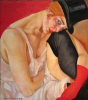 Борис Дмитриевич Григорьев. Женщина в цилиндре. 1919