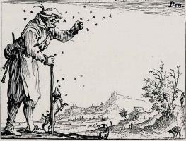 Жак Калло. Крестьянин и пчелиный рой