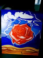 "Anton Bashkov. Salvador Dali ""Meditative rose"" remake of the famous painting 2018"