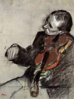 Edgar Degas. Violinist. Etude
