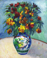 Henri Manguin. Wallflowers in a Chinese vase