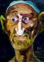 Кандинский-ДАЕ. Uncle Sasha (Shoemaker at boarding school № 1, Solikamsk. Oil on cardboard, 49-35, 1973