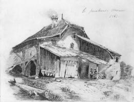 Сельский домик. Копия с рисунка Александра Калама