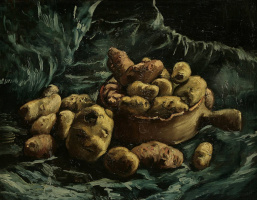 Винсент Ван Гог. Натюрморт с чашей и картофелем