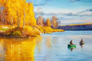 Alexander Romm. Autumn fishing