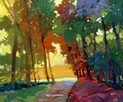 Alexander Valerievich Sushchin. Sunny forest.