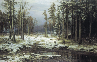 Ivan Ivanovich Shishkin. The first snow