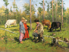 Владимир Егорович Маковский. Пастушки