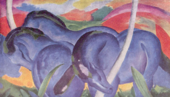 Franz Marc. Large blue horses