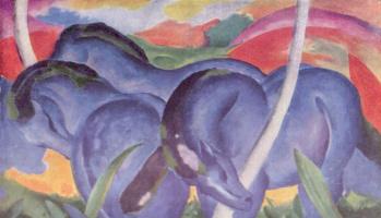 Франц Марк. Большие синие кони