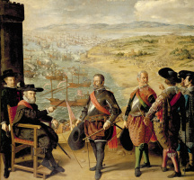 Francisco de Zurbaran. The defense of Cadiz against the English