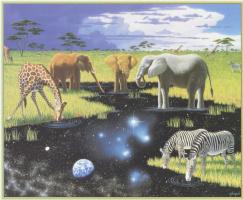 Уильям Шиммел. Слоны, жирафы, зебры