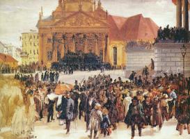Адольф фон Менцель. Похороны павших во время мартовского восстания
