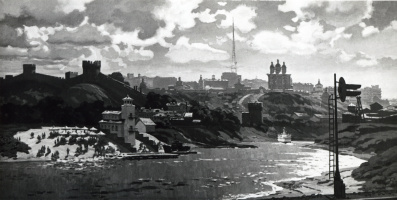 Владимир Иосифович Ружо. Панорама Смоленска