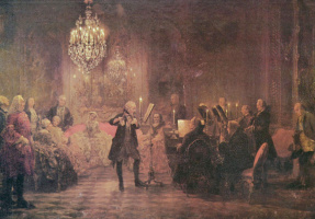 Адольф фон Менцель. Концерт Фридриха Великого в Сан-Суси