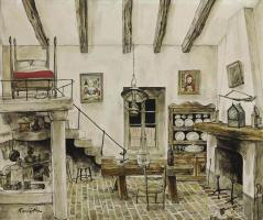 Цугухару Фудзита ( Леонар Фужита ). Interior