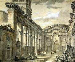 Шарль-Луи Клериссо. Вестибюль дворца императора Диоклетиана в Сплите