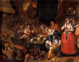 Франс Франкен Младший. Кухня ведьм. Около 1610