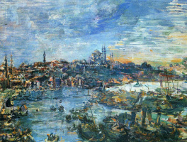 Oskar Kokoschka. View of Constantinople