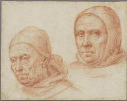 Фра Бартоломео. Головы двух доминиканских монахов