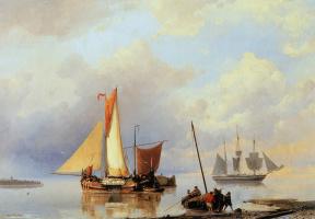 Ян Куккук. Корабли возле берега