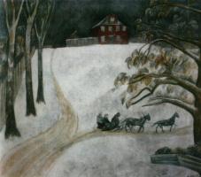 Александр Васильевич Шевченко. «Зима в Зубцове» 1916