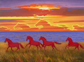 """Red horses """