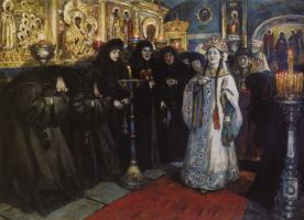 Vasily Ivanovich Surikov. The visit of the Princess convent