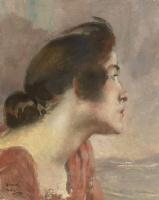 Paul Albert Benar. The girl's head. 1928