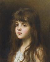 Алексей Алексеевич Харламов Россия 1840 - 1923. Маленькая русская девочка.