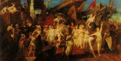 Ганс Макарт. Карл V в Антверпене