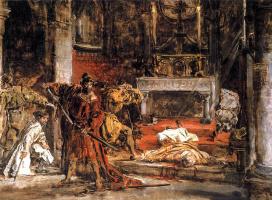 Ян Матейко. Убийство святого Станислава (Убийство епископа Щепановского). Эскиз