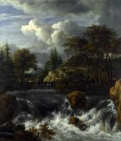 Якоб Исаакс ван Рейсдал. Водопад и скалистый пейзаж