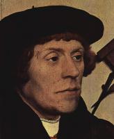 Ганс Гольбейн Младший. Портрет астронома Николауса Кретцера, фрагмент