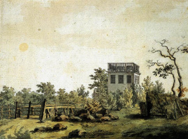 Каспар Давид Фридрих. Пейзаж с павильоном
