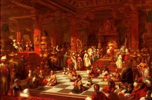 Анри Пьер Пику. Игра в шахматы в Индии
