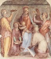 Якопо Понтормо. Мария с младенцем Иисусом и святыми