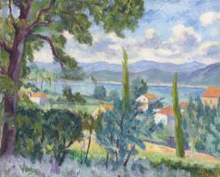 Henri Manguin. The descent to the Gulf of Saint-Tropez