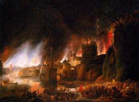 Симон де Флигер. Пожар