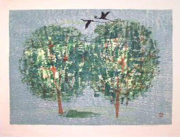 Тамами Шима. Два дерева и аисты