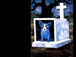 George Rodrigue. Blue собака007