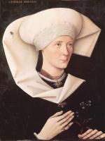 Неизвестный  художник. Портрет дамы из семьи Хофер