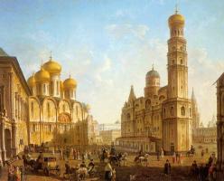 Федор Яковлевич Алексеев. Соборная площадь в Московском Кремле