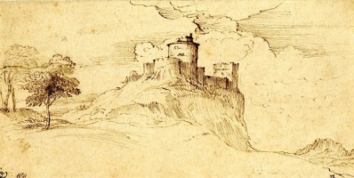 Titian Vecelli. Castle on the cliff