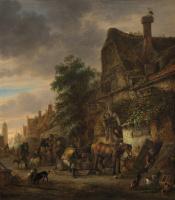 Исаак Янс ван Остаде. Работники и крестьяне возле гостиницы