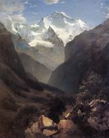 Алексей Кондратьевич Саврасов. Вид в Швейцарских Альпах (Гора Малый Рухен)