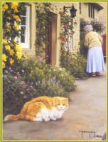 Роберт Данкан. Кот и пожилая женщина