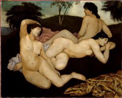 Эмиль Бернар. После ванны  (нимфы)