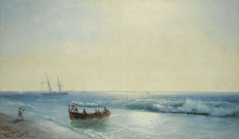Ivan Aivazovsky. Sailors go ashore