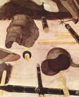Паоло Уччелло. Три картины о битве при Романо для дворца Медичи во Флоренции. Никколо да Толентино -предводитель флорентийцев. Фрагмент